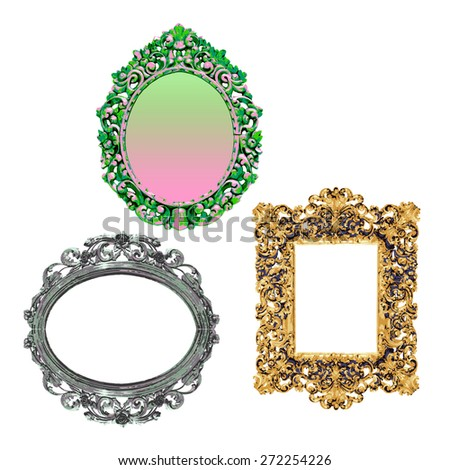 Classical frame sets, vector - stock vector