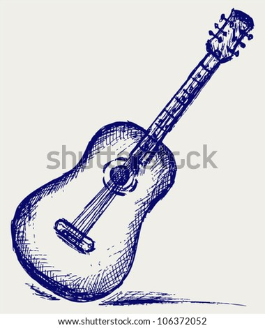 Classical guitar - stock vector