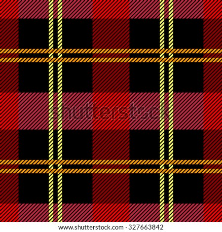 Classical plaid seamless checkered vector pattern. Retro textile collection. Red and black. Backgrounds & textures shop. - stock vector