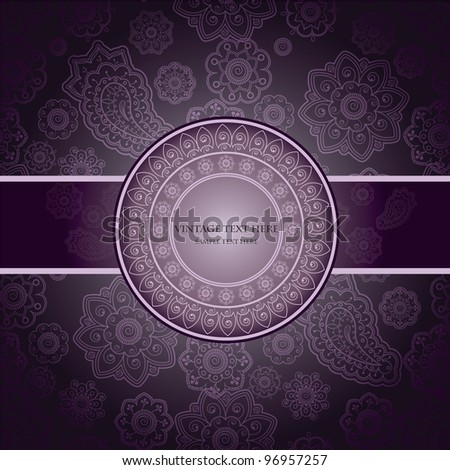 Classical Seamless Wall-paper With Paisley And Floral Design - stock vector