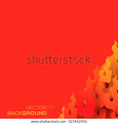 Classical Traditional Chinese paper flame shapes, fiery concept design background. Vector illustration eps10. - stock vector
