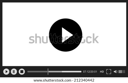 Classical vector web player on white background - stock vector