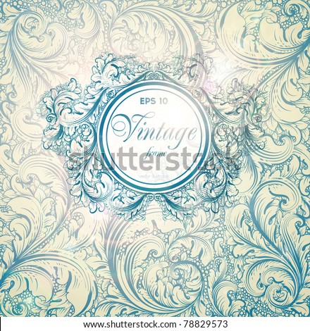 Classical wall-paper with a flower pattern - stock vector