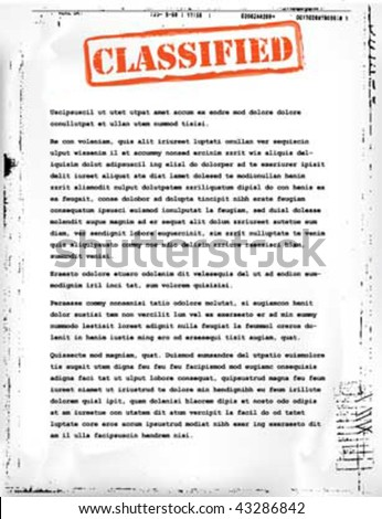 classified document template