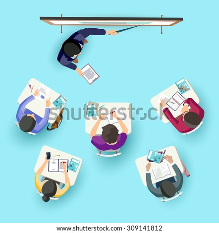 Classroom. Flat design. - stock vector