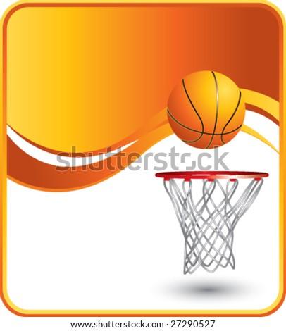 classy basketball background - stock vector