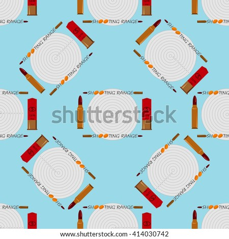 Clay Pigeon Shooting and target seamless texture consists of bullets for rifles and target - stock vector