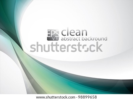 Clean Abstract Background. Each object is well organized in layers for easy customization