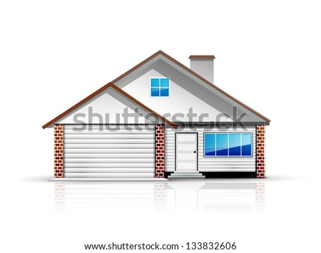 Clean and glossy detailed house icon - stock vector