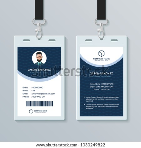 Clean And Modern Employee ID Card Design Template
