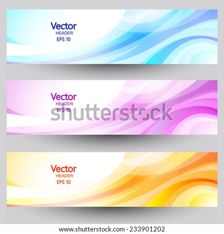 Clean Banner with waves. Eps 10 - stock vector