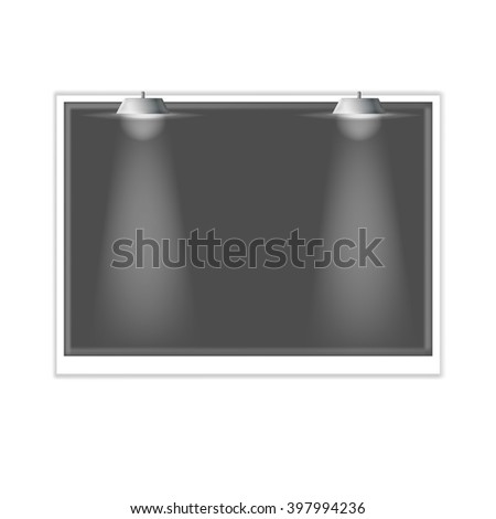 Clean billboard for advertising. vector illustration - stock vector