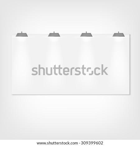 Clean billboard. vector illustration - stock vector