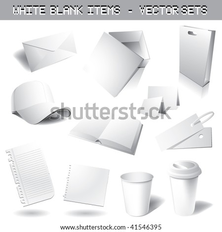 clean blank vector sets - stock vector