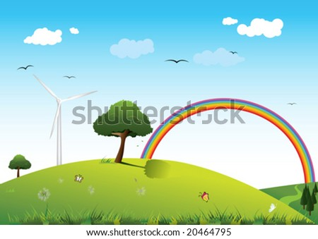 Clean energy concept - stock vector