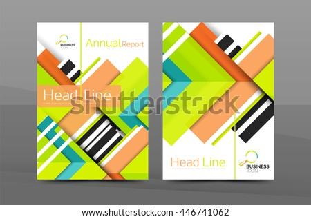 Clean Geometric Design Annual Report Cover Stock Vector 446741062