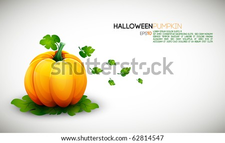 Clean Halloween Pumpkin Design with space for text - stock vector
