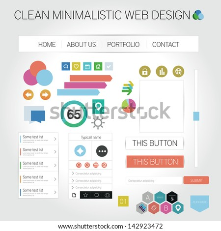 Clean minimalistic web graphics - stock vector