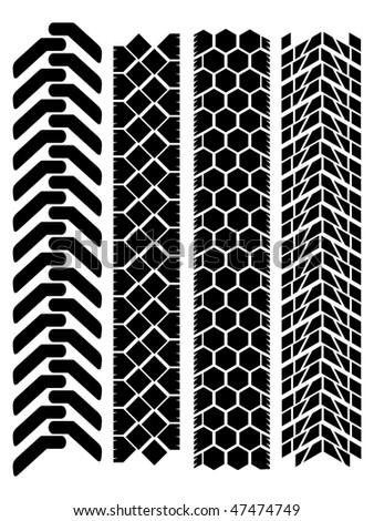 clean off-road tyre prints - stock vector