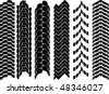 clean off-road tyre track set - stock photo