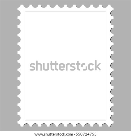 Clean Postage Stamp Template Icon On Stock Photo Photo Vector