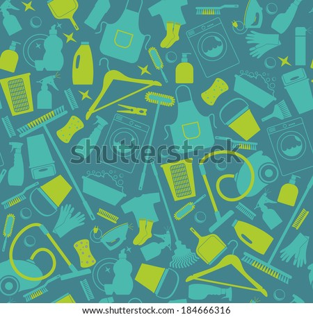 Clean seamless pattern