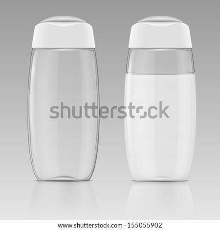 Clean shampoo bottle template. - stock vector
