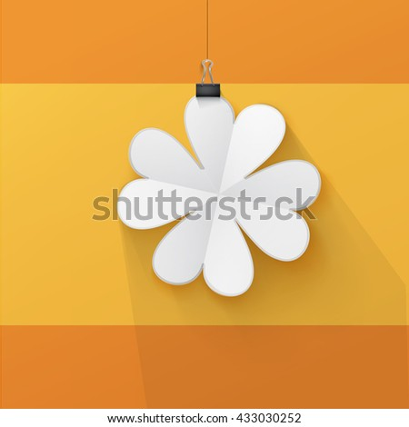Clean Shamrock Paper Cut Element for Your Fortune - stock vector