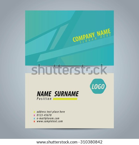 Clean simple modern business card template stock vector 310380842 clean simple modern business card template colourmoves