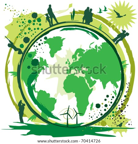 clean, the concept of a livable world - stock vector