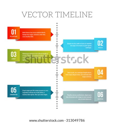 Simple Vector Numbered List Template On Stock Vector