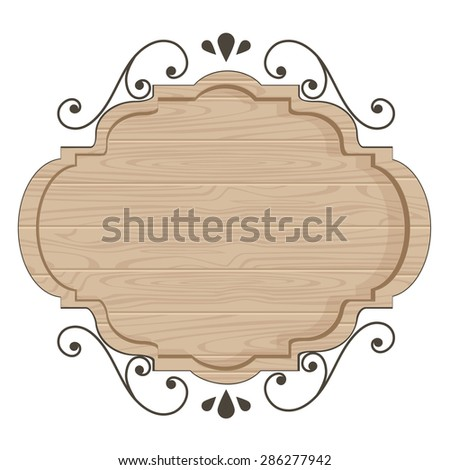 Clean wood sign template