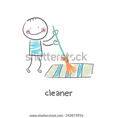 Cleaner - stock vector
