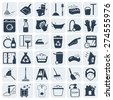 Cleaning and washing vector icon set - stock vector