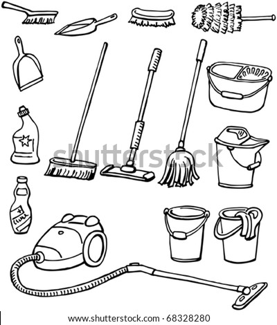 Housekeeping Supplies Clipart