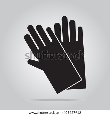 Cleaning gloves icon sign illustration - stock vector