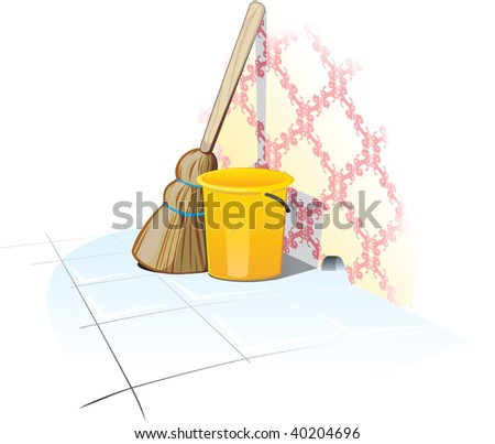 Cleaning Items - stock vector