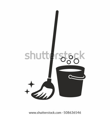 Cleaning Mop Icon Stock Vector 508636549 Shutterstock