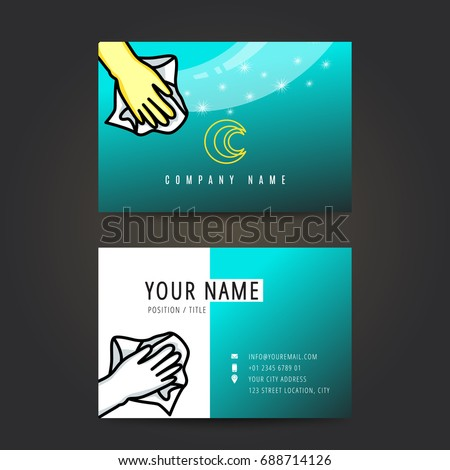 Cleaning Business Card Stock Images RoyaltyFree Images Vectors