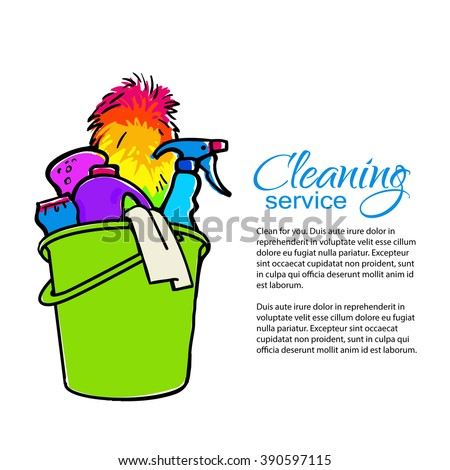 Cleaning Services Hand Drawn Spray Dust Stock Vector 390597115 ...
