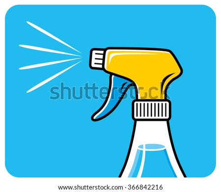 Cleaning spray icon. - stock vector