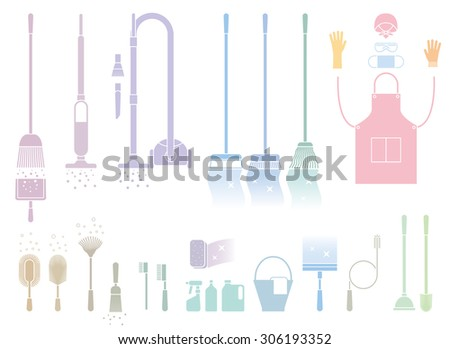cleaning tool - stock vector