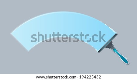 Cleaning window - stock vector