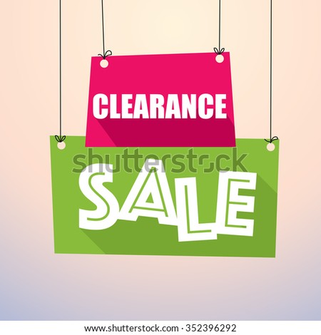 CLEARANCE SALE - Paper Tags - stock vector