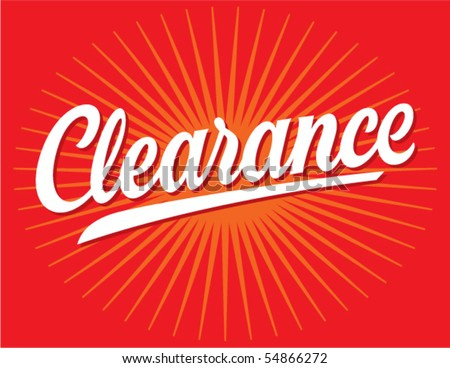 Clearance Sign Vector Lettering - stock vector