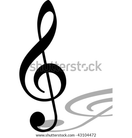 Clef.Vector image - stock vector