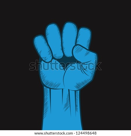 Clenched fist hand vector. Victory, revolt concept, change illustration.