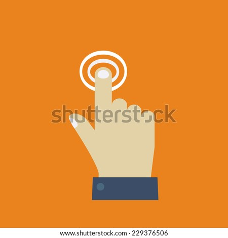 Click. Hand icon pointer. Flat design vector for web - stock vector