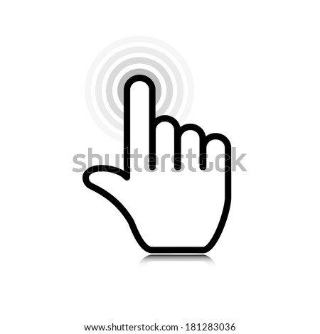 click. hand icon pointer. vector eps10 - stock vector