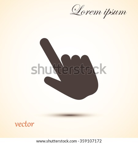 Click, Hand Icon, Touch Icon, Pressing a Button, doorbell ring in - stock vector